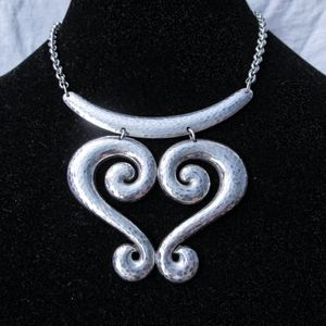 Brighton silver Genoa hammered heart necklace